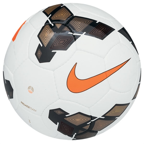 Nike Premier Team NFHS Soccer Ball - White/Gold/Total Orange SC2367-177