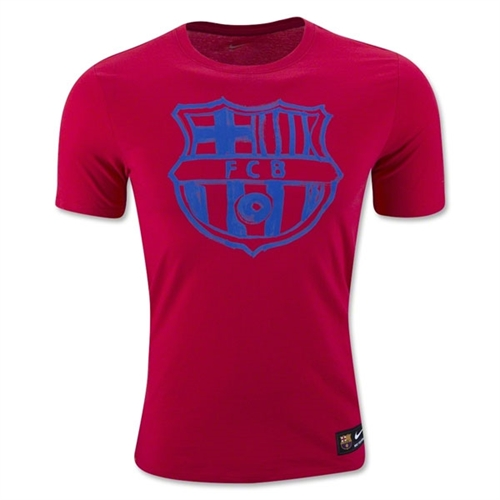 Nike Barcelona Crest Tee - Prime Red 805739-633