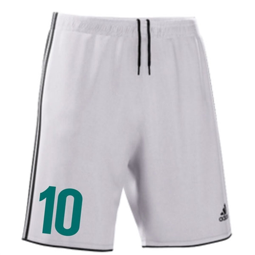 RPB Striker Adidas Fortore 14 Short - White/Black RPBFortoreShorts-Wh/Bk
