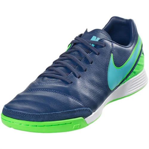 Nike Tiempo Mystic V IC - Navy/Green Indoor 819222-443