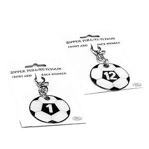 Soccer Ball Metal Bag Tag N 202