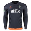 Lee County Strikers adidas Entry Long Sleeve Goalkeeper Jersey - Dark Grey/Solar Orange LEEAP0326