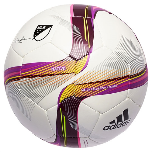 adidas MLS 2015 Glider Soccer Ball - White/Pink M36938