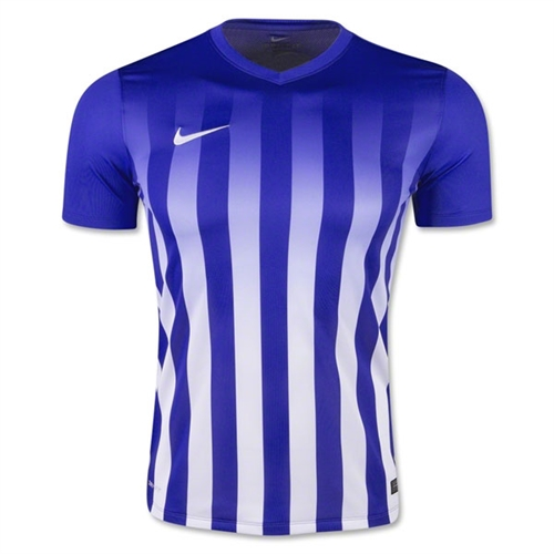 Nike SS Striped Division II Jersey - Blue 820700Blu