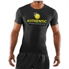 Authentic Soccer Short Sleeve Compression Top - Black AU-ComSS
