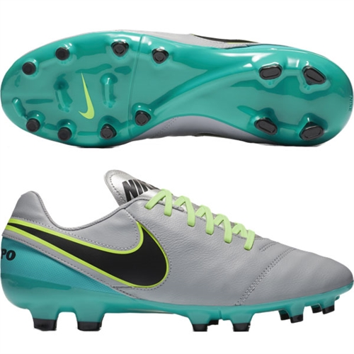 Nike Tiempo Genio II Leather FG - Wolf Grey/Black/Clear Jade 819213-003
