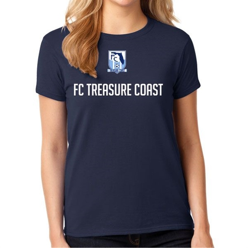 FC Treasure Coast Women's T-Shirt - Navy FCTC-WTee