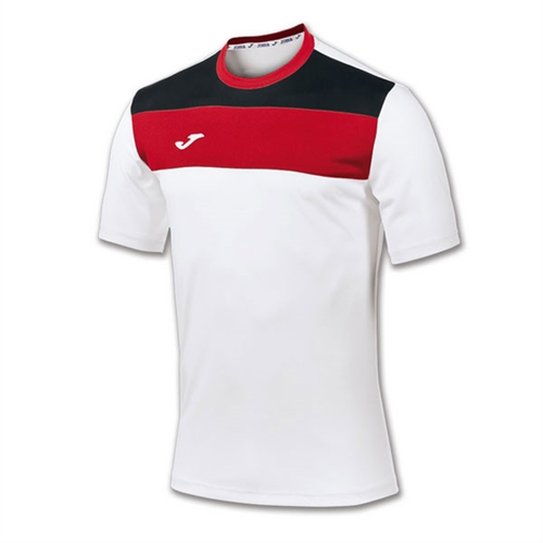 Joma Crew Jersey - White/Black/Red JomaCrwWhiBlk