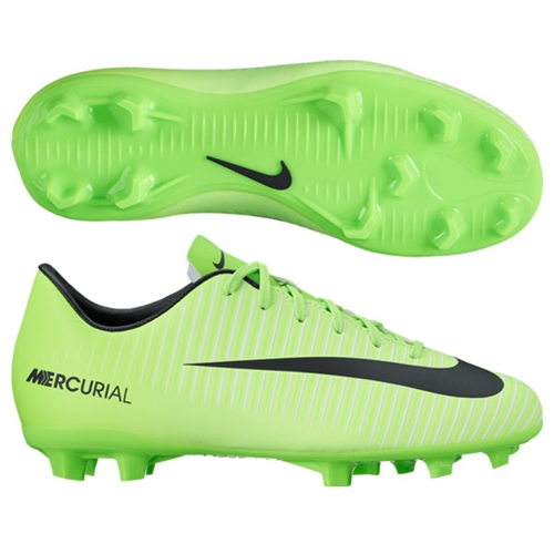 8edb8520446e Nike Junior Mercurial Victory VI FG - Electric Green Black Flash Lime White