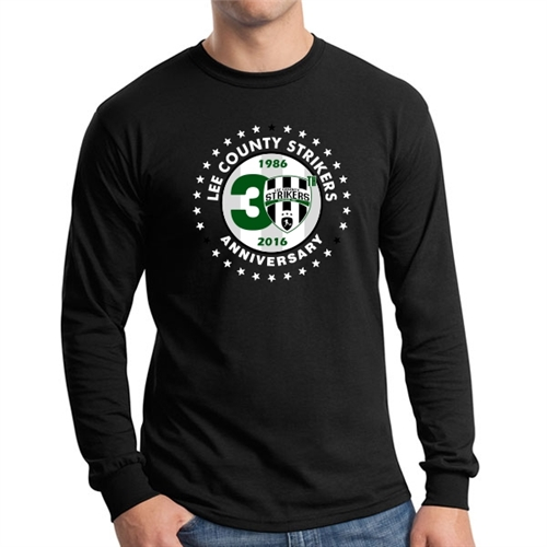 Lee County Strikers 30th Anniversary Long Sleeve T-Shirt - Black Lee-BLSTee
