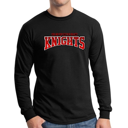 Boynton Knights Long Sleeve T-Shirt - Black BK-LTee