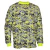 Vizari Youth Deceptor Camo Goalkeeper Jersey - Yellow/Black/Grey VZAP60045Y