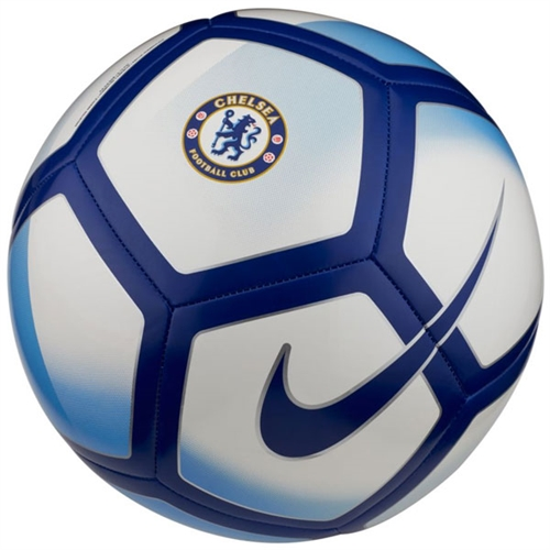 Nike Chelsea Pitch Soccer Ball - White/Rush Blue SC3483-100