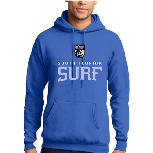 South Florida Surf Hooded Sweatshirt - Blue SFSHood