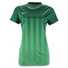 Nike Women's SS Striped Division II Jersey - Green 820702Grn