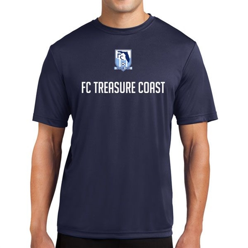 FC Treasure Coast Short Sleeve Performance Shirt - Navy FCTC-PTee