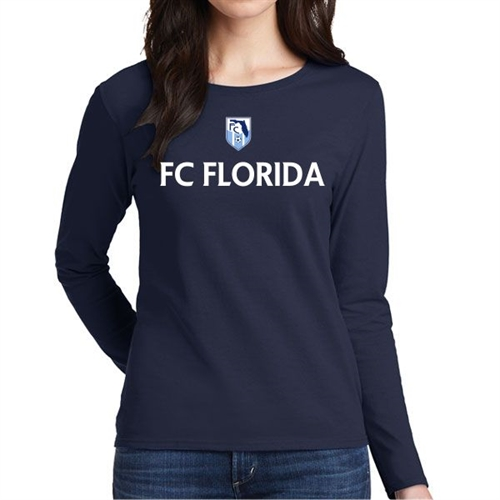 FC Florida Women's Long Sleeve T-Shirt - Navy FCF-WLTee