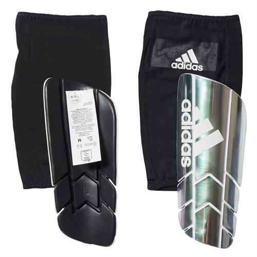 adidas Ghost Pro Shin Guard - Silver/White/Black - NOCSAE Approved AZ9885