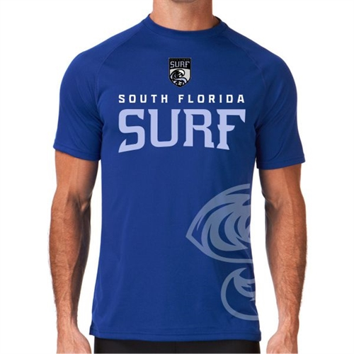 South Florida Surf Short Sleeve Compression Top - Blue SFSComSS