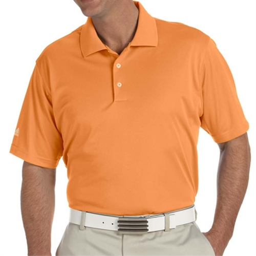 adidas Men's Basic Short Sleeve Polo - Bright Orange A130BO