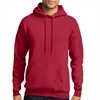 Core Fleece Pullover Hooded Sweatshirt - Red PC78HRed