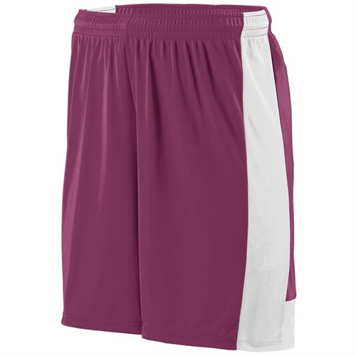 Augusta Lightning Shorts - Maroon 1605Mar