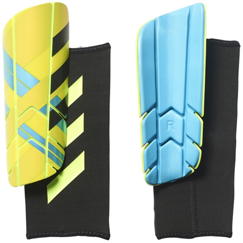 adidas Ghost Pro Shin Guard - Solar Yellow/Blue - NOCSAE Approved BS4151