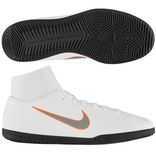 fc34dd86cdeb Nike Mercurial SuperflyX VI Club IC - White Total Orange Indoor AH7371-107
