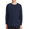 Gildan 5400 Cotton Youth Long Sleeve T-Shirt - Navy 5400BNav
