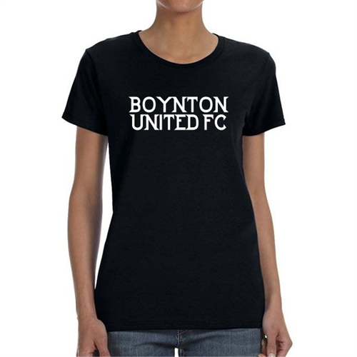 Boynton United Women's T-Shirt - Black  BU-WTee