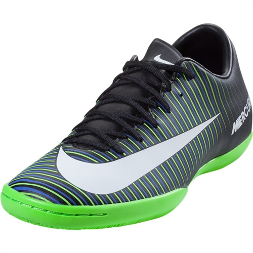 Nike Mercurial Victory VI IC - Black/Green Indoor 831966-013