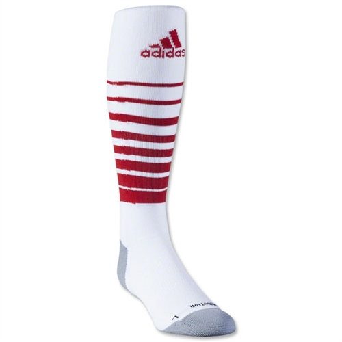 adidas Team Speed Soccer Sock - White/Red 5130180WhiRed
