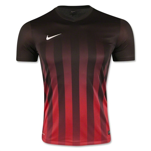 Nike SS Striped Division II Jersey - Black/Red 820700BlkRed