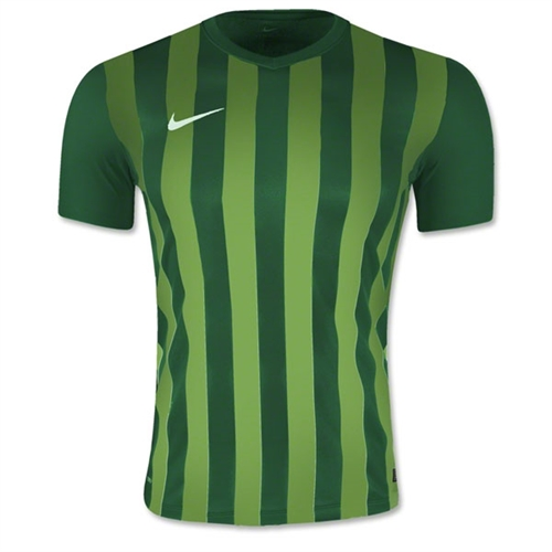 Nike SS Striped Division II Jersey - Green 820700Grn