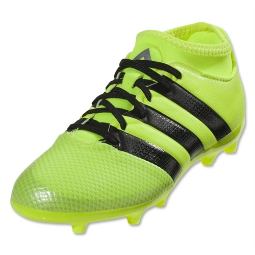 adidas Junior Ace16.3 Primemesh FG/AG - Solar Yellow/Black/Silver Metallic AQ3444