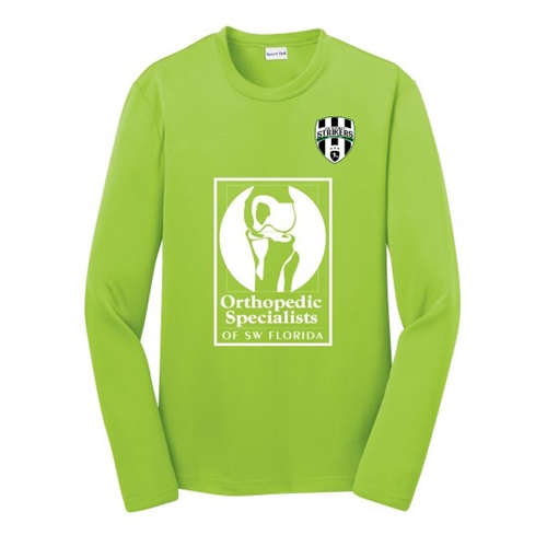 Lee County Strikers Youth Long Sleeve Training Jersey - Lime Shock ST350LSYLC