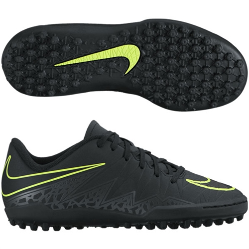 Nike Junior Hypervenom Phelon II TF- Black/Volt 749922-009