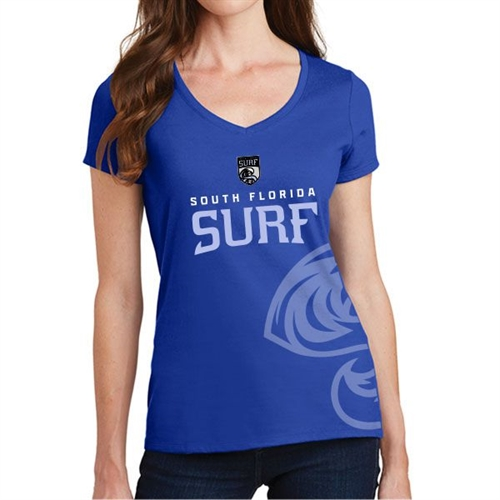 South Florida Surf Women's T-Shirt - Blue SFSWomS