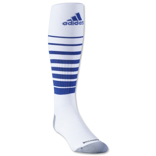 adidas Team Speed Soccer Sock - White/Blue 5130085WhiBlu