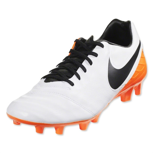 Nike Tiempo Mystic V FG - White/Total Orange/Black 819236-108