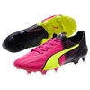 Puma EvoSpeed SL Leather Tricks FG - Pink Glo/Safety Yellow/Black 10364601