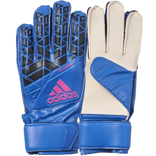 adidas Junior ACE Fingersave Goalkeeping Glove - Blue/Black AZ3681