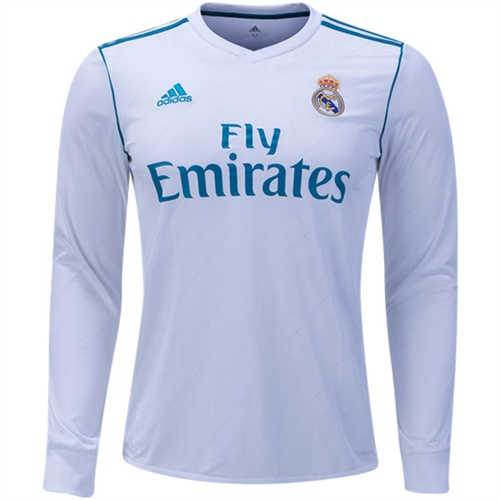 adidas Real Madrid Long Sleeve Home Jersey 2017-2018 B31106