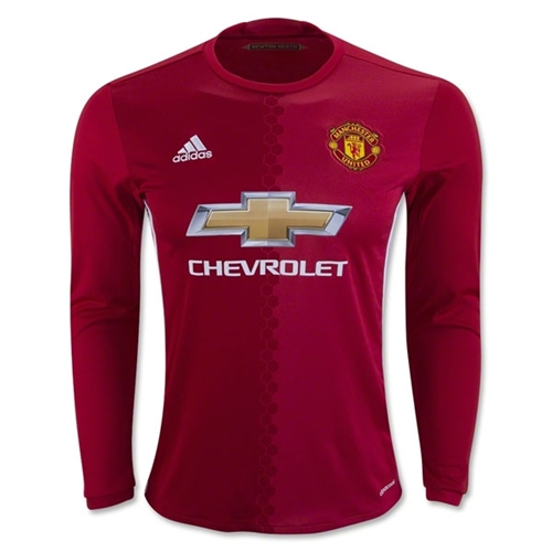 adidas Manchester United Long Sleeve Home Jersey 2016-2017 AI6718