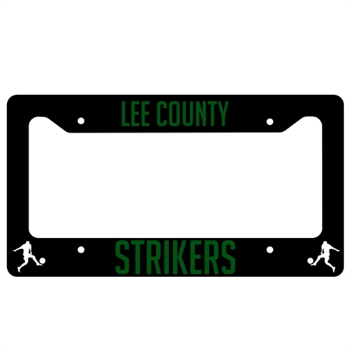 Lee County Strikers License Plate Frame Lee-LPFrame