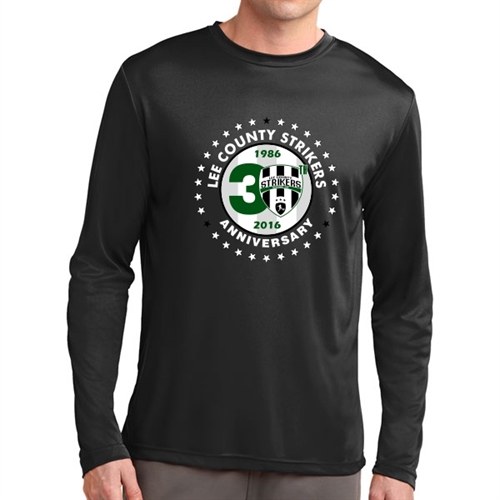 Lee County Strikers 30th Anniversary Long Sleeve Performance Shirt - Black Lee-30LPTee