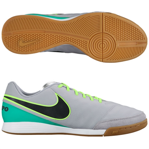 Nike Tiempo Genio II Leather IC - Wolf Grey/Black/Clear Jade Indoor 819215-003