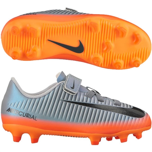 Nike Junior Mercurial Vortex III CR7 FG - Cool Grey/Metallic Hematite 852496-001