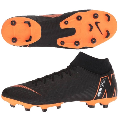 quality design 081c5 a7ec6 Nike Mercurial SuperFly VII Academy MG - Black/Total Orange AH7362-081