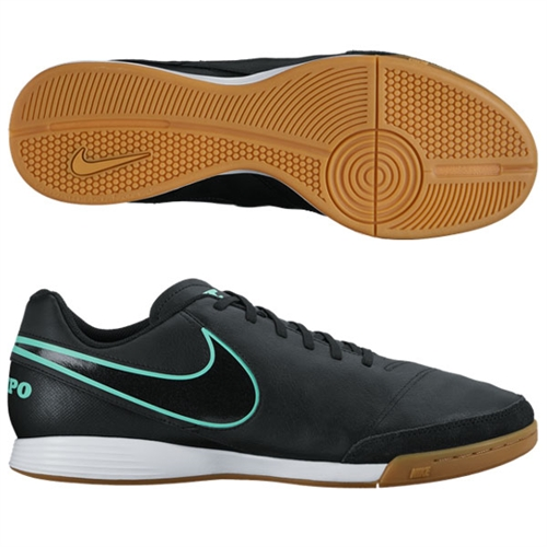 Nike Tiempo Genio II Leather IC - Black/Black Indoor 819215-004